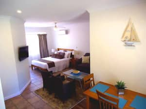 Inn The Tuarts Guest Lodge Pic 2 - Spacious Naturaliste Studio with kitchenette and veranda seating