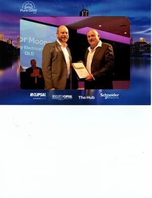 Mooney Trevor Electrical & Plumbing Pic 3 - Congratulations on 20 years with Clipsal
