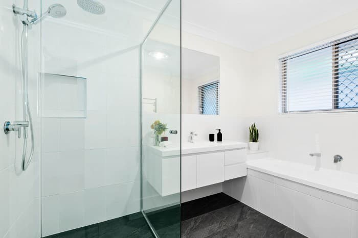BrisWest Renovations Pic 1 - Admiral Cr Main Bathroom After