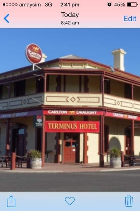The Terminus Hotel Motel Pic 1 - My Favourite Hotel the one on the left Morgan SA