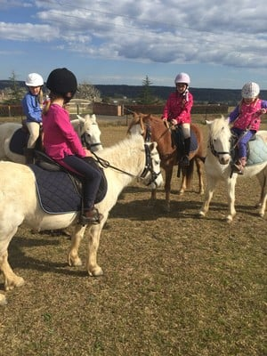Hills and Hollows Horse Riding Centre Pic 4 - Group lessons include mounted games mini trail riding and jumping with NCAS qualified instruction