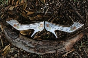 Scenic Shoes Pic 2 - Scenic Shoes carry special meaning to their brides in the words and pictures that decorate them