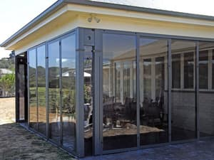 Optiscreen Pic 2 - Enclose your pergola or veranda with PVC optiscreen multi stack sliding screens