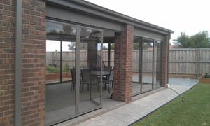 Optiscreen Pic 5 - Finish off your alfresco area with the amazing opti screens in Bi fold or Multi stack sliding PVC screens