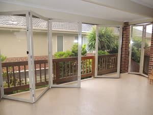 Optiscreen Pic 3 - Opti screen bi fold PVC doors perfect to create an outdoor room