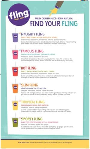 Fling Juice Pic 2 - Our Menu