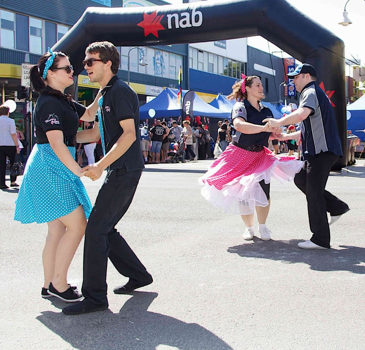 Rock n Roll Pic 1 - Rock n Roll and Swing Dance in the street at Penrith