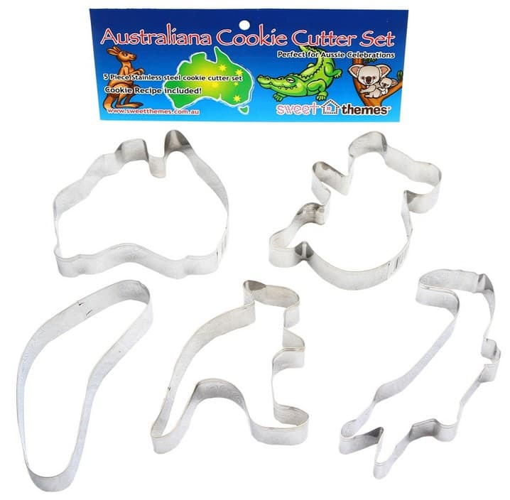 Sweet Themes Pic 1 - Jazz up your Australia Day celebrations with this set of stainless steel Australian cookie cutters