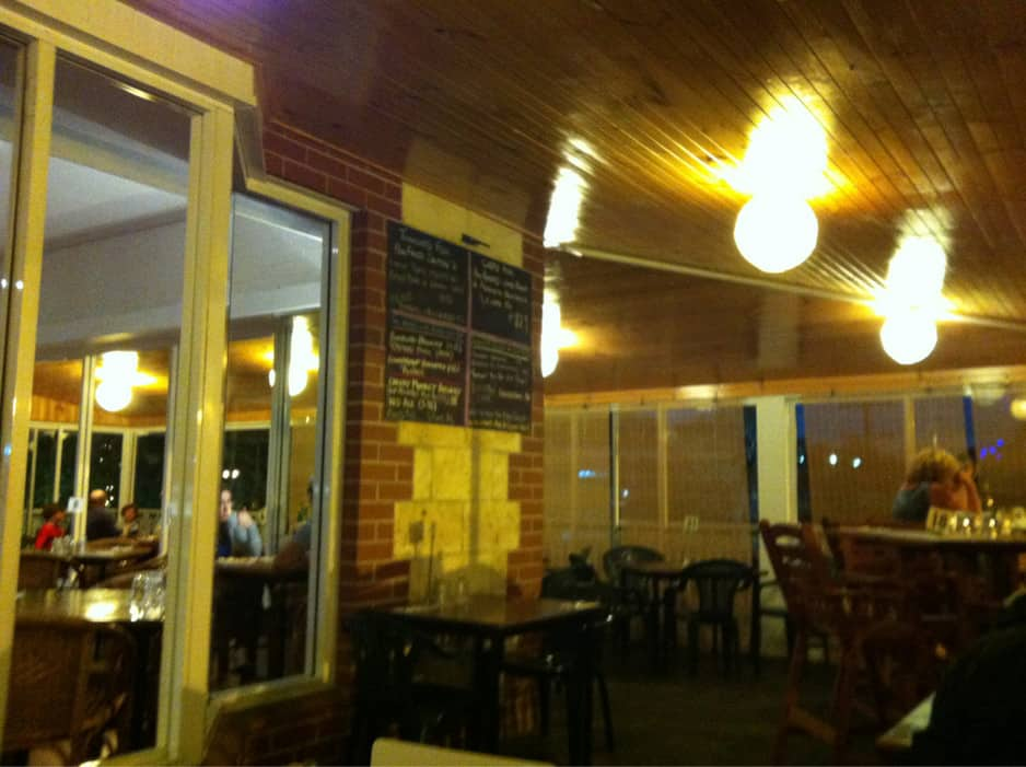 Goodfellas Pic 2 - Lovely cosy evening ambience in the outdoor seating area