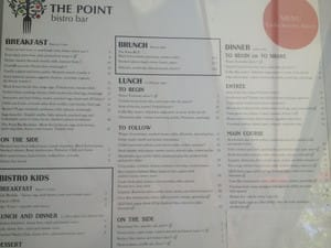 Bistro Bar Cafe Pic 4 - Menu