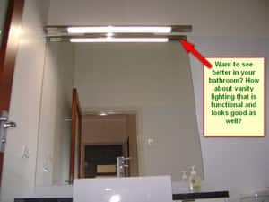 Weiss Electrical Pic 4 - Trouble seeing in the bathroom mirror We can fix this with classy vanity lighting