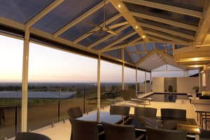 SA Quality Home Improvements Pic 2 - Colorbond Gable Verandah with Twinwall Polycarbonate Roofing