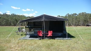 Bean Offroad Camping Camper Trailer Hire Pic 3 - Step 3 Sit back relax and watch everyone else still putting up their tents