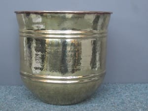 Delway Brass Pty Ltd Pic 4 - Brass Planter Restored by Delway Stripped polished and clear coated to prevent tarnishing