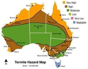 Sydneys Best Pest Control Pic 3 - CSIRO termite Risk map for Australia