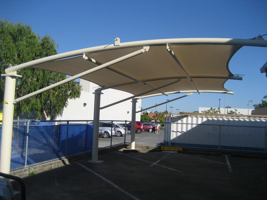 Calypso shadesails in narangba brisbane qld shades for Steel shade structure design